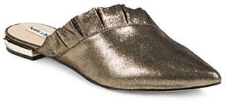 Karl Lagerfeld PARIS Farrah Ruffle Leather Flat Mules