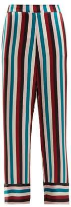 Asceno - Striped Silk Pyjama Trousers - Womens - Multi Stripe