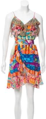 Camilla Silk Printed Mini Dress w/ Tags