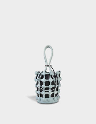 Alexander Wang Roxy Cage Mini Bucket Bag in Bleached Calfskin