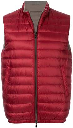 Herno sleeveless puffer jacket