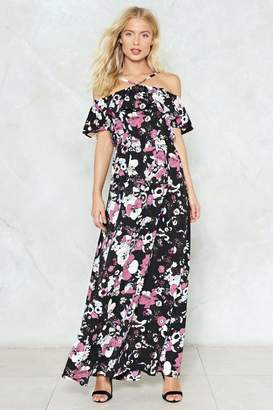 Nasty Gal Raise Your Glass Floral Maxi Dress