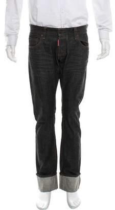 DSQUARED2 Cuffed Straight-Leg Jeans