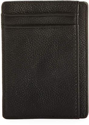 Neiman Marcus RFID Pebbled Leather Card Holder