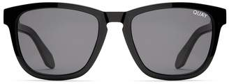 Quay Hardwire Sunglasses Black With Smoke Lens