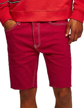 Topman Skinny Fit Stretch Denim Shorts