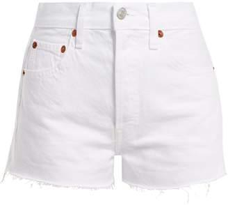 RE/DONE ORIGINALS The Short raw-hem denim shorts