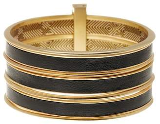 House Of Harlow The Titaness Leather Bangle Bracelet