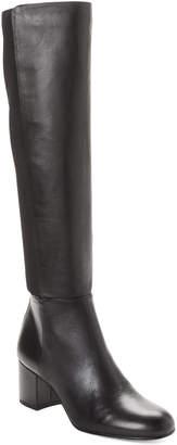 Sam Edelman Black Valda Leather Knee-High Boots