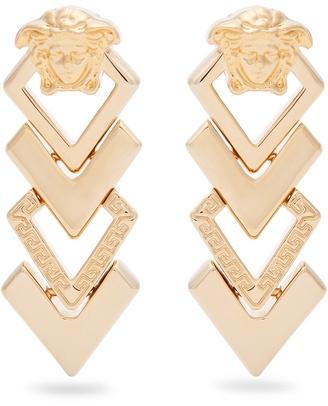 Medusa tiered drop earrings