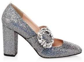 Sarah Jessica Parker Celine Glitter Mary-Jane Heels