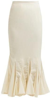 Rhode Resort Sienna Fishtail Cotton Midi Skirt - Womens - Cream