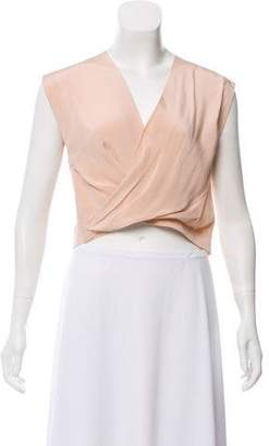 Robert Rodriguez Silk Crossover Crop Top