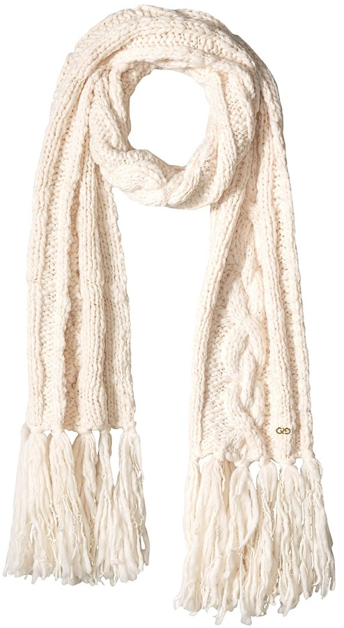 Cole Haan  Cole Haan Chunky Cable Muffler with Fringe