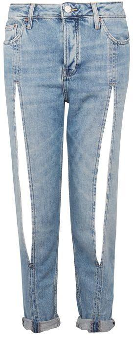 TopshopTopshop Moto bleach split front hayden boyfriend jeans