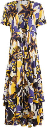 Alexis Sotella Tahitian Floral Wrap Dress