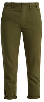 The Great The Miner Low Slung Cotton Trousers - Womens - Khaki