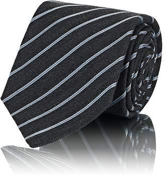 Kiton Men's Striped Wool-Silk Necktie