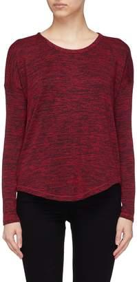 Rag & Bone 'Hudson' shirt-tail hem long sleeve knit top