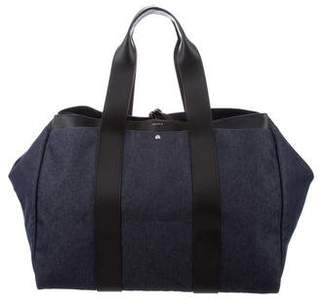 Theory Denim & Leather Tote Bag