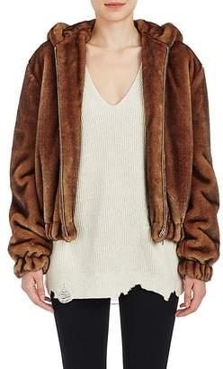 Helmut Lang Women's Faux-Fur Hooded Bomber Jacket