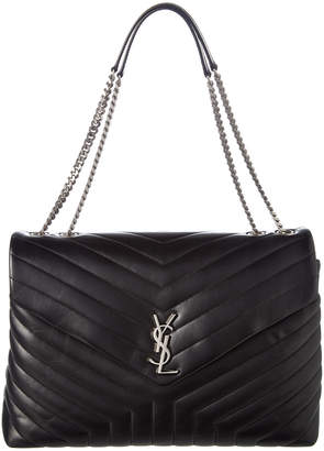 a49635925187 Saint Laurent Large Loulou Y Matelasse Leather Chain Satchel