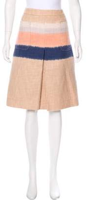 Tory Burch Tweed A-Line Skirt