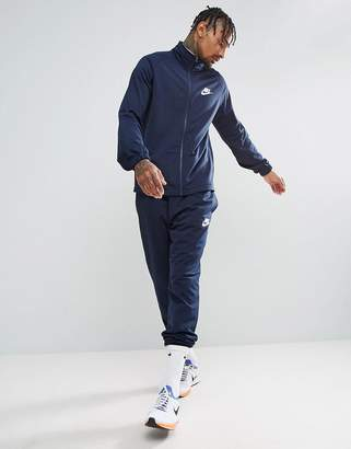 Nike Polyknit Tracksuit Set In Navy 861780-451