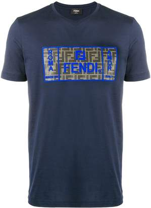 Fendi monogram patch T-shirt