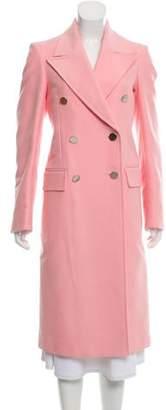 Calvin Klein Peak-Lapel Double-Breasted Long Coat