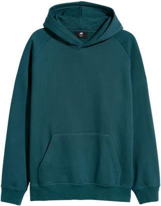 H&M Hooded Sweatshirt Loose fit - Turquoise