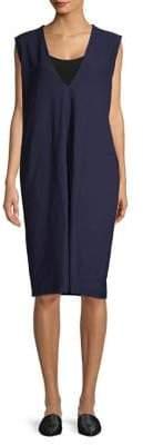 Eileen Fisher Deep V-Neck Knee-Length Dress