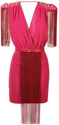 Elisabetta Franchi chain fringe mini dress