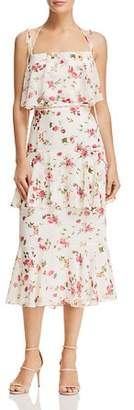 WAYF Imola Tiered Floral Dress