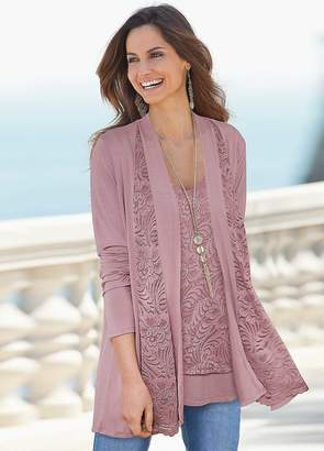 Together Lace Panel Cardigan