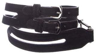 Balenciaga Suede Buckle Belt