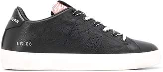 Leather Crown contrast low-top sneakers