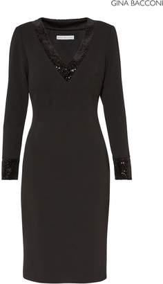 Next Womens Gina Bacconi Black Olympia Crepe Dress