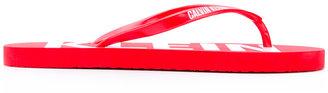 Calvin Klein Jeans logo sole flip flops $29.68 thestylecure.com