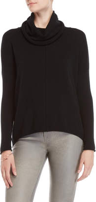 Forte Cashmere Slouchy Cowl Popover Sweater