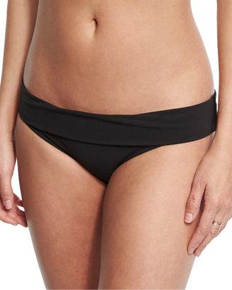 heidi klein Oslo Fold-Over Solid Swim Bottom, Black $125 thestylecure.com