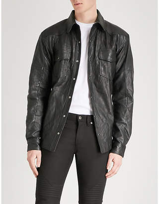 Deadwood Hell slim-fit recycled leather shirt