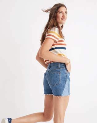 Madewell High-Rise Denim Shorts: Pieced Edition