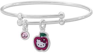 Hello Kitty Silver-Plated Charm Bangle