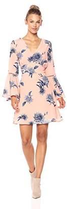 Ella Moon Women's Kia Bell Sleeve Vneck Fit and Flare Dress