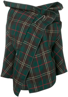 Comme des Garcons Pre-Owned 1999's plaid cropped jacket