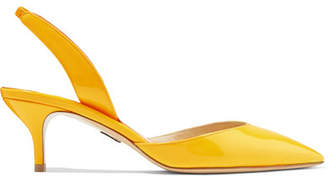 Paul Andrew Rhea Patent-leather Slingback Pumps - Yellow