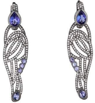 Diamond and Tanzanite Wing Earrings