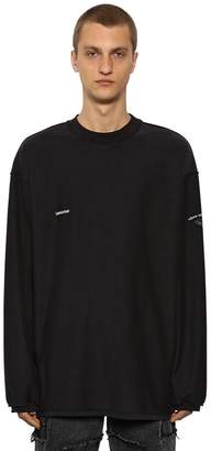 Vetements Inside-Out Jersey Long Sleeeve T-Shirt