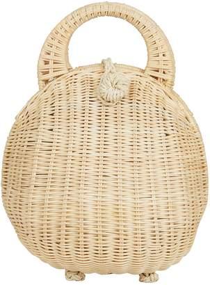 Cult Gaia Millie Dome Straw Beige Bag